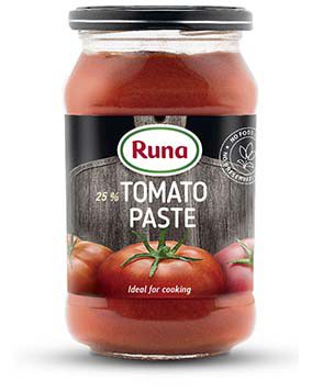 Tomato paste with 25% of dry matter