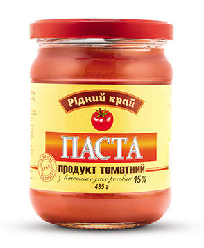 Tomato product with 15% of dry matter