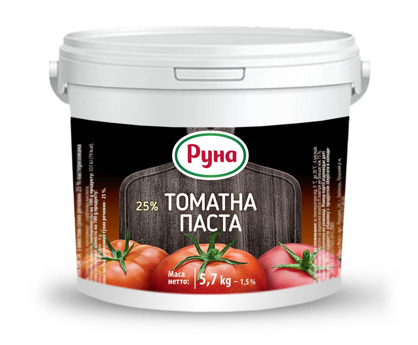 HoReCa Томатна паста з вмістом сухих речовин 25%