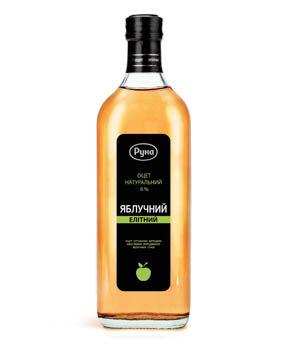 """Natural vinegar 6%  """"Apple cider"""" (0.5 liters)"""