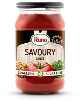 "With mustard seeds ""Savoury"" tomato sauce with stevia"