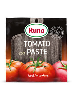 Tomato paste  with 25% of dry matter content
