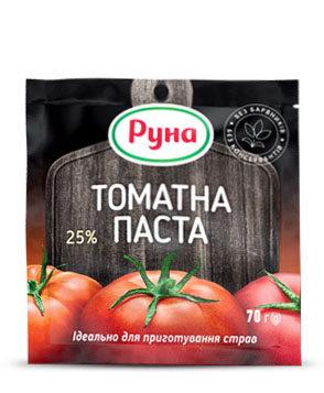 Томатна паста з вмістом сухих речовин 25%